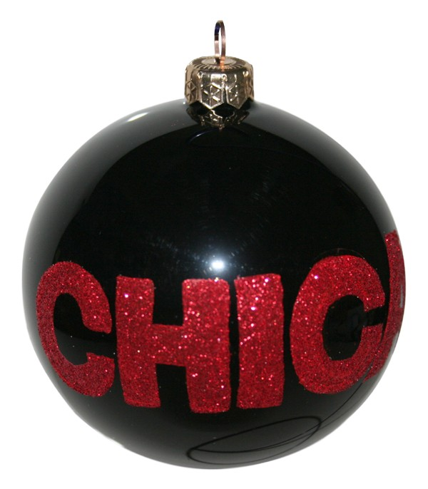 Chicago glass Christmas ornament