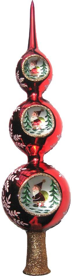 Red Ball Santa Tree Top