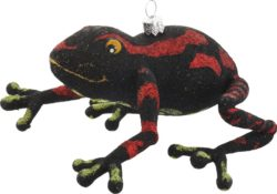 Frog free blown glass ornament