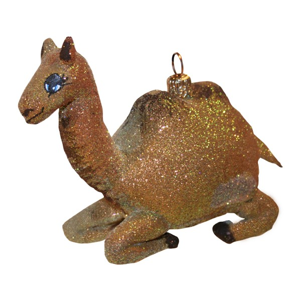 Camel glass Christmas ornament