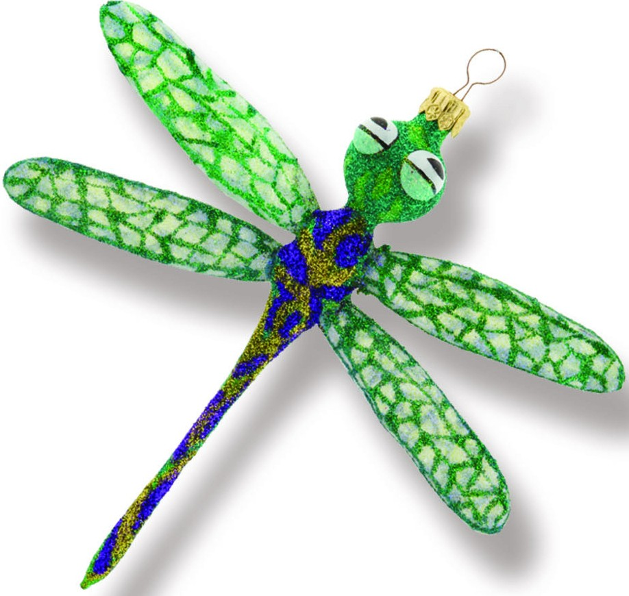 Dragonfly glass ornament