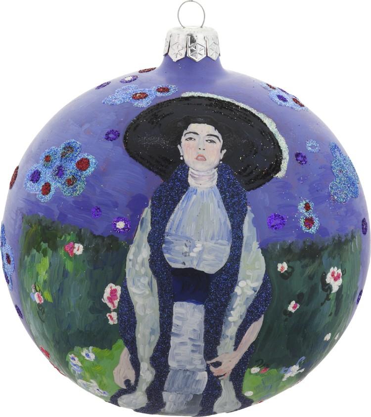 Klimt's Adele Bauer Bloch II glass ornament