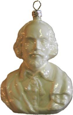 Shakespeare glass ornament
