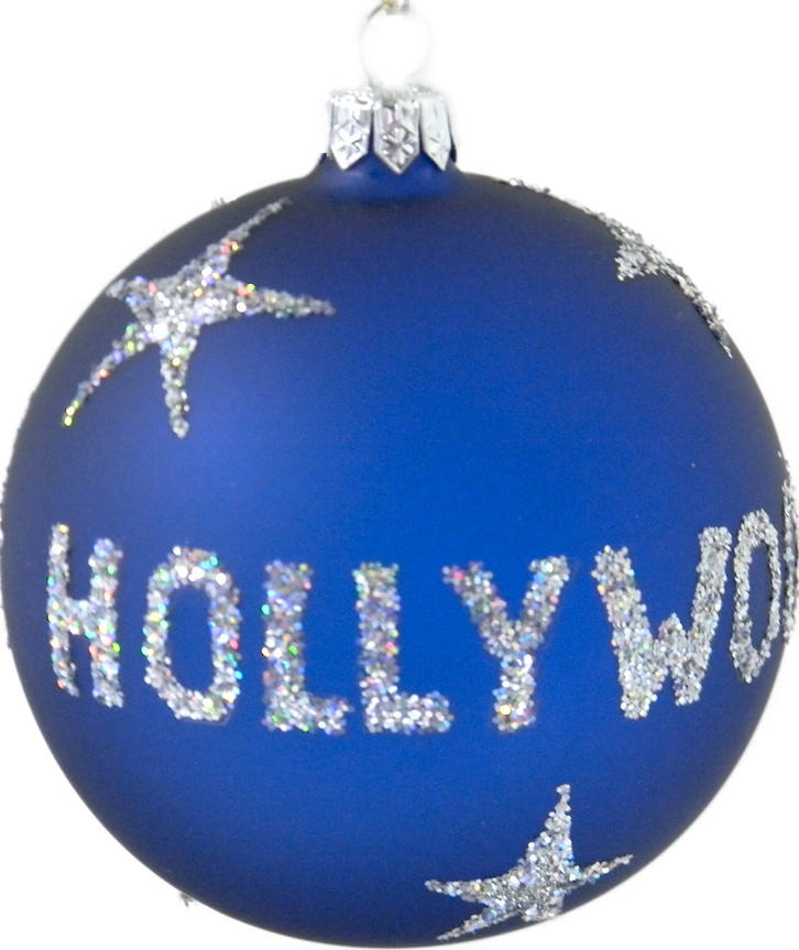 Hollywood glass ornament