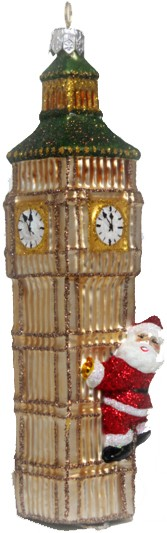 Santa on the Big Ben ornament