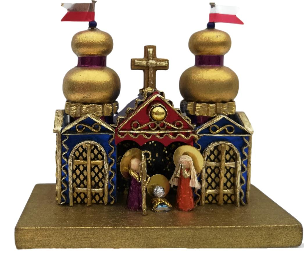 Miniature Krakow Nativity by competition winner J. Kirsz