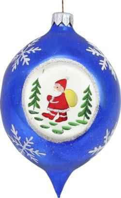 Blue Ball Santa