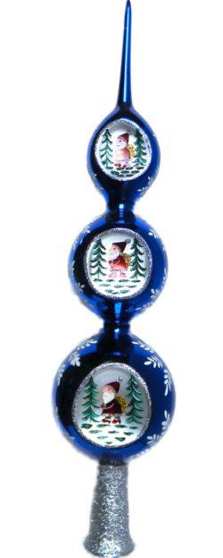 Blue Ball Santa Treetop