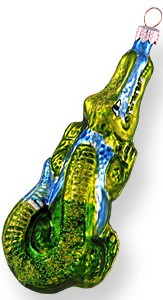 Crocodile glass ornament