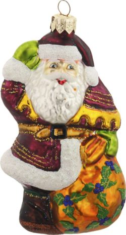 Golden Bag Santa