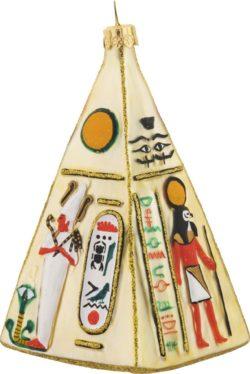 Pyramid glass Christmas ornament