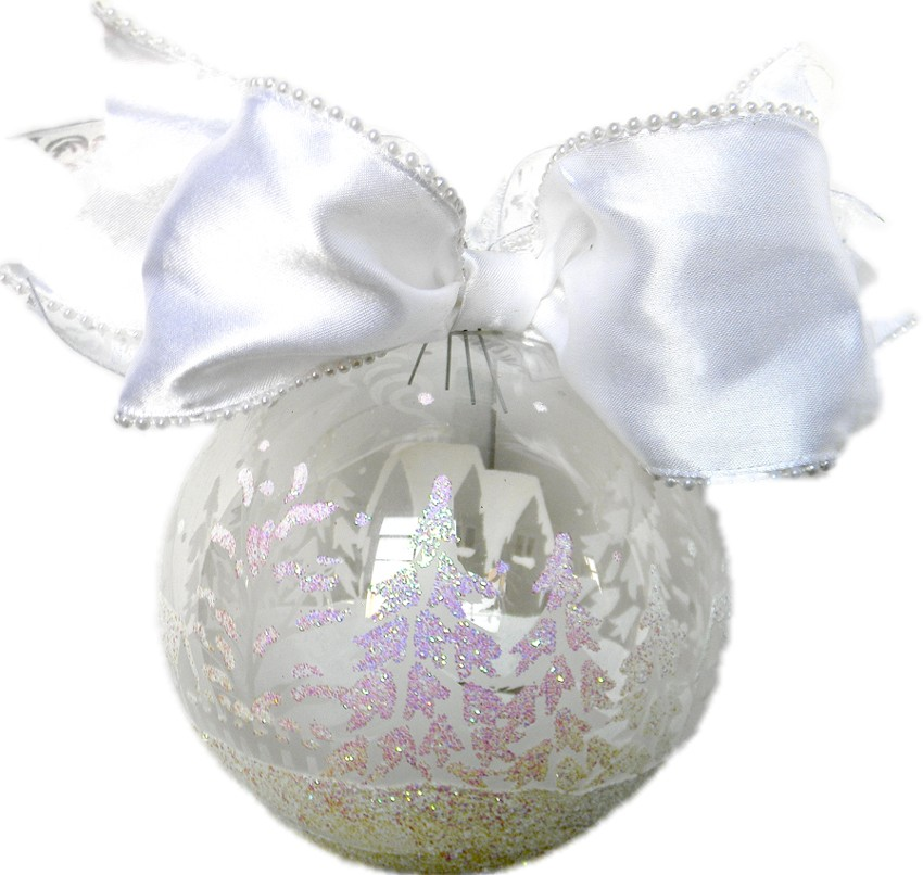 Country scene large ball ornament