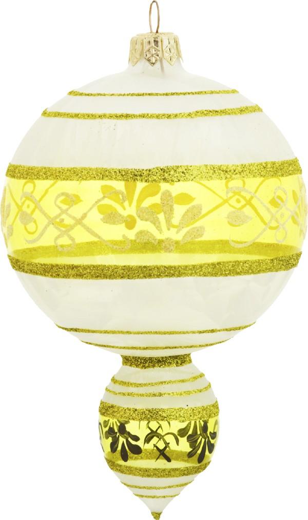 Venetian Gold old fashion glass Christmas ornament - daPolonia