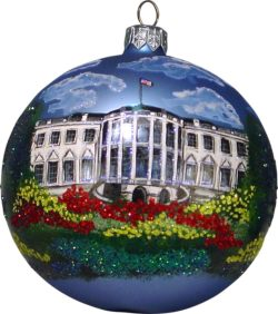 The White House glass Christmas ornament