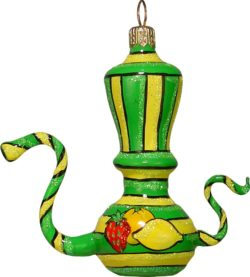 Te pot glass Christmas ornament