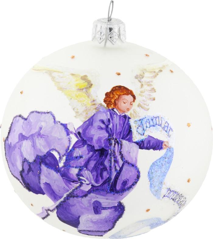 Glass Christmas ornament nativity Angel