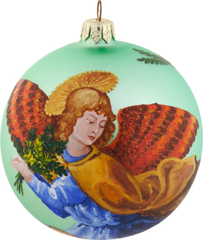 Medici Angel glass ornament