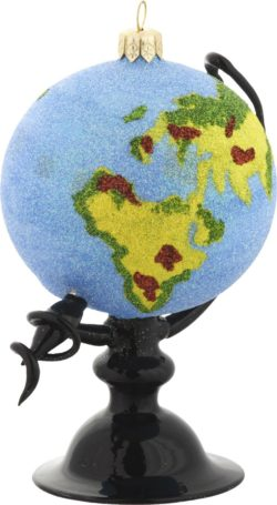 Globe glass Christmas ornament