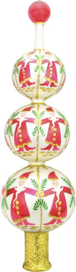 Dancing Santas Tree Top