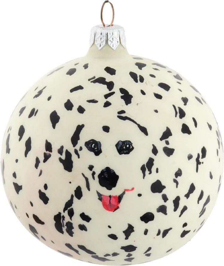 Dalmatian spots glass Christmas ornametn