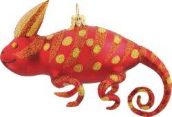 Red Chameleon ornament