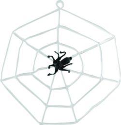 Spider in a cobweb glass ornament