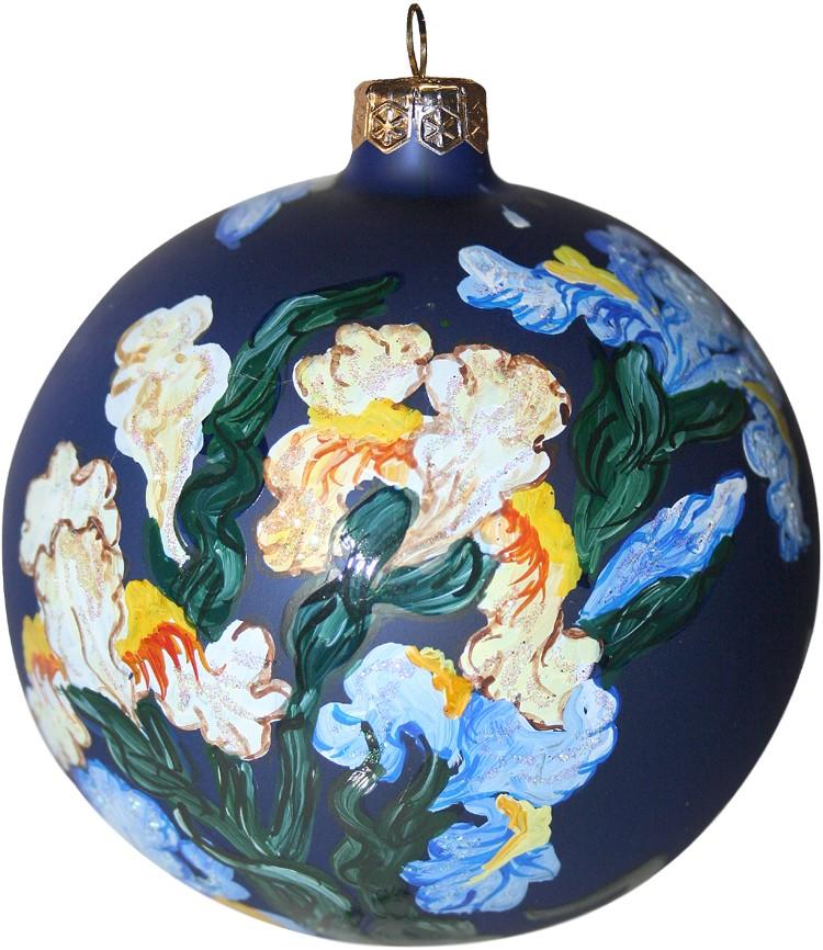 Wyspianski's Irises Christmas ornament