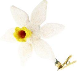Daffodil glass Christmas ornament