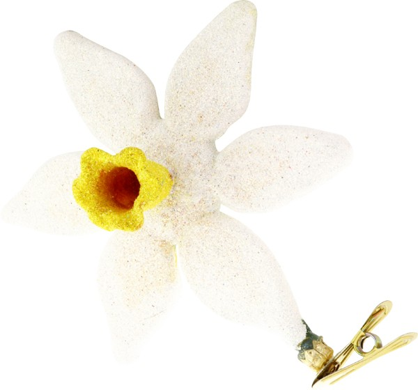 Daffodil glass Christmas ornament