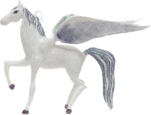 Pegasus free blown ornament