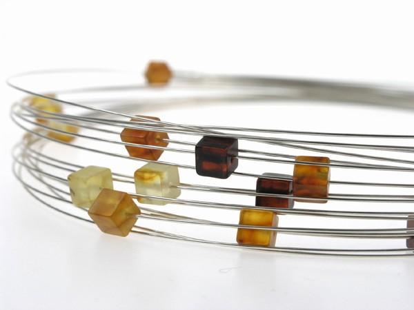 Le Petite cube Baltic amber necklace