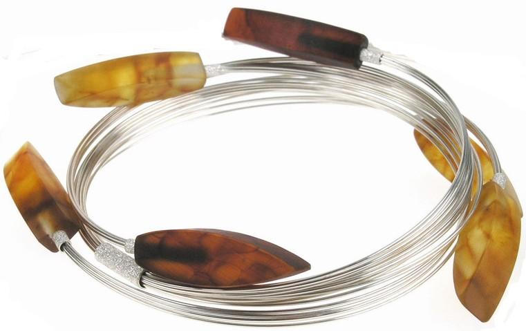 Honey, cherry and butterscotch Arrowhead Baltic amber bracelet