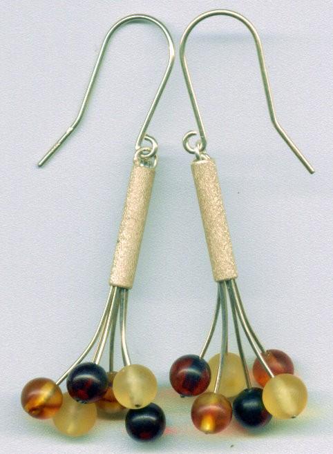 Baltic amber bouquet earrings