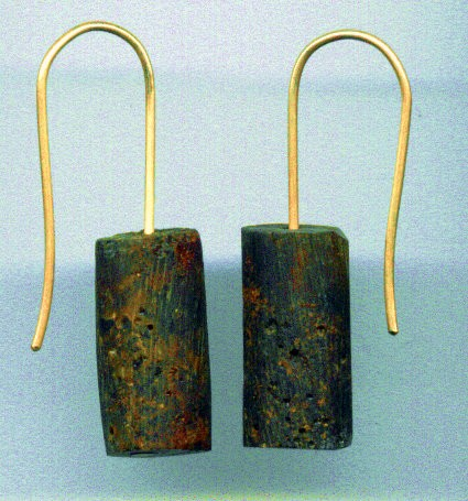 Cherry Baltic amber logs earrings