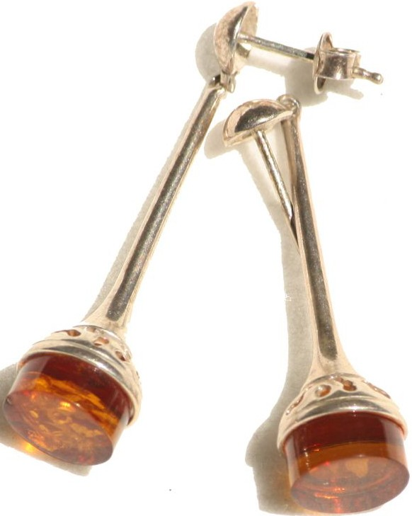 Baltic amber tussle earring