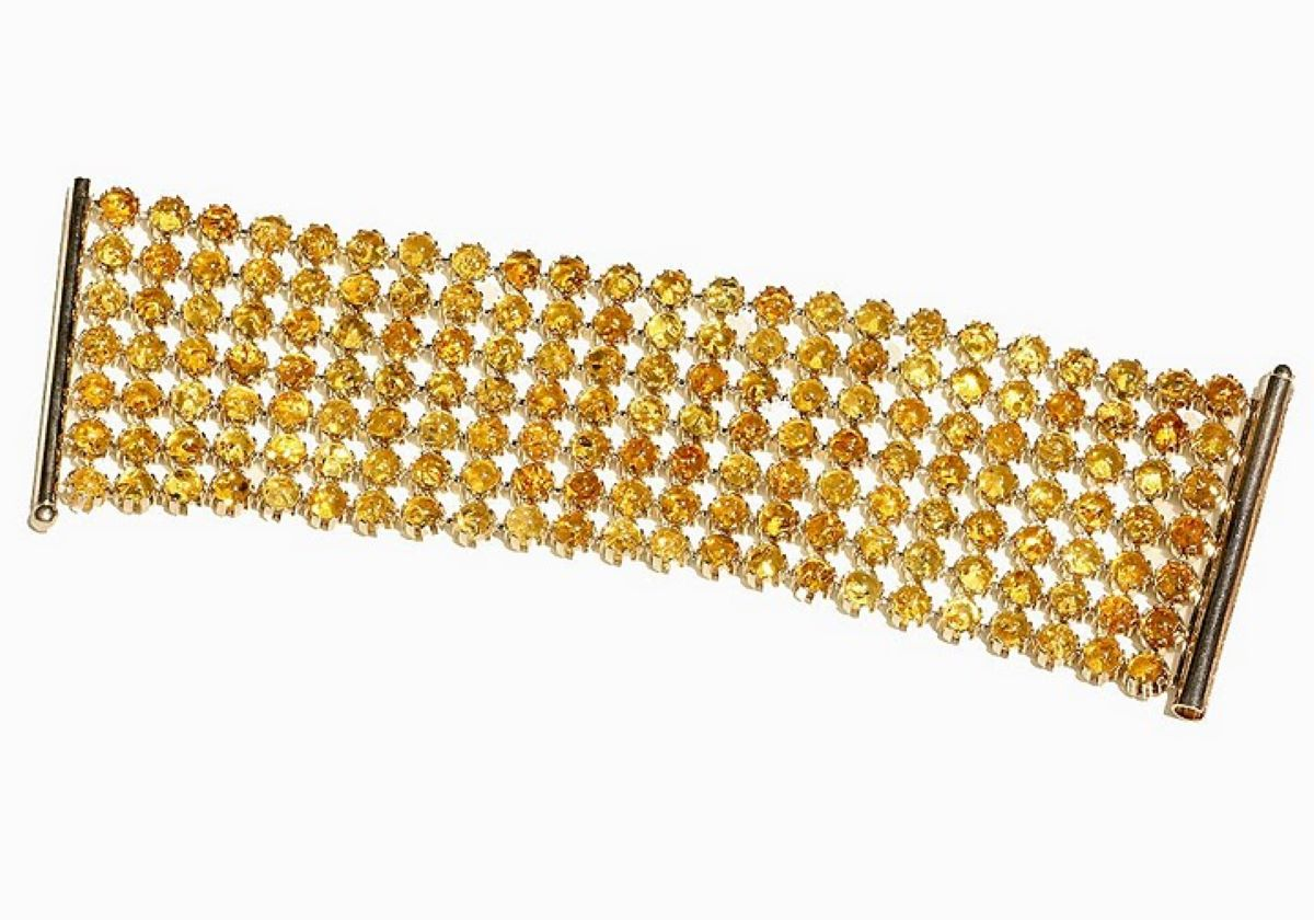 Diamond cut lemon Baltic amber bracelet