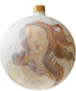 Botticelli's Birth Of Venus glass Christmas ornament