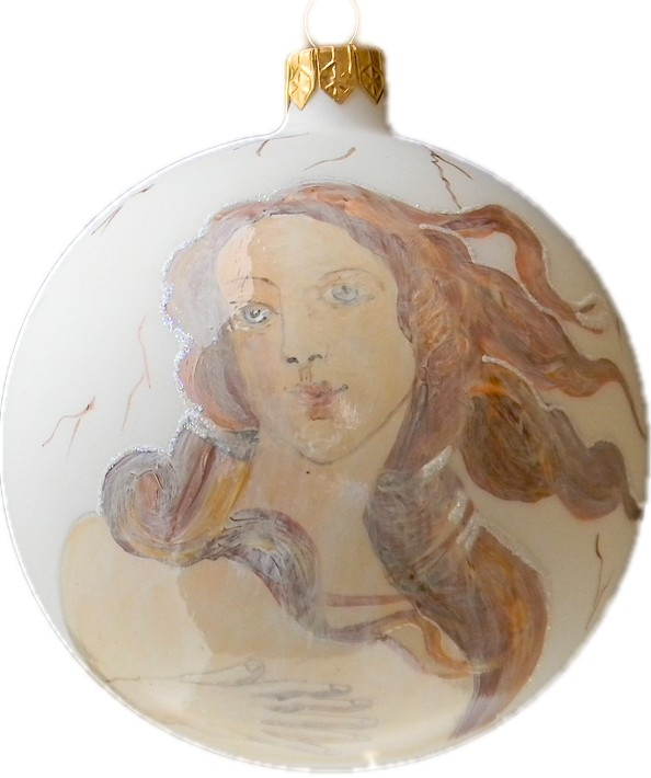 Botticelli's Birth Of Venus glass Christmas ornament