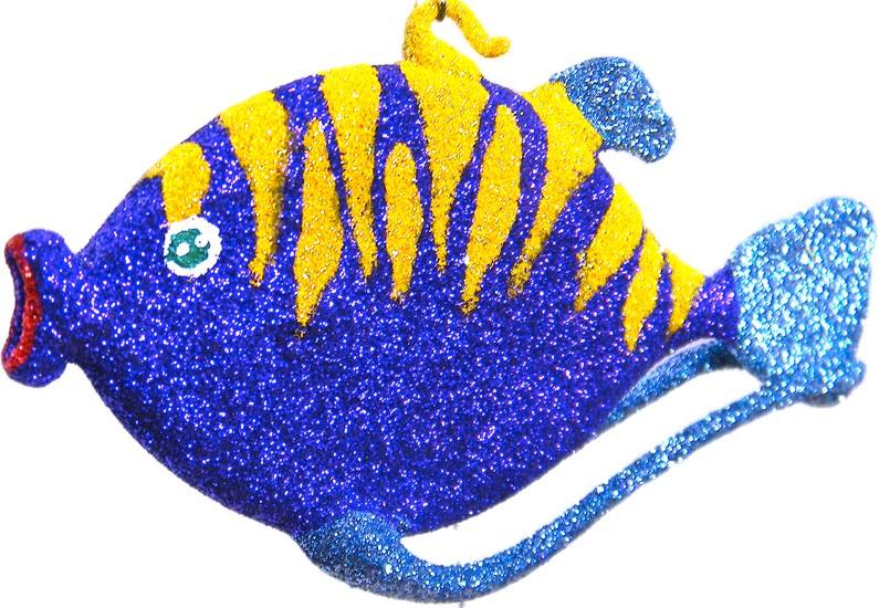 Free blown glass ornament fish named Kamil