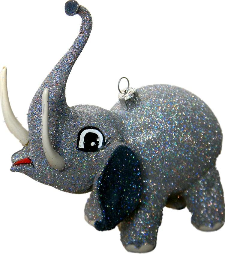 Free blown glass ornament elephant