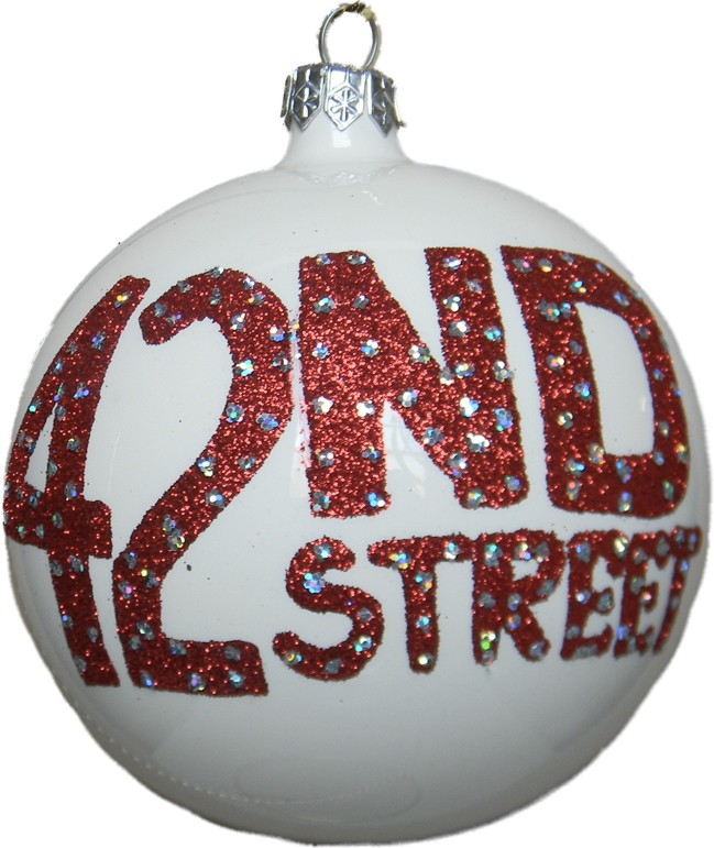 Forty Second Street glass Christams ornament