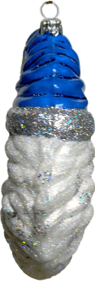 Blue Moon Santa Christmas ornament