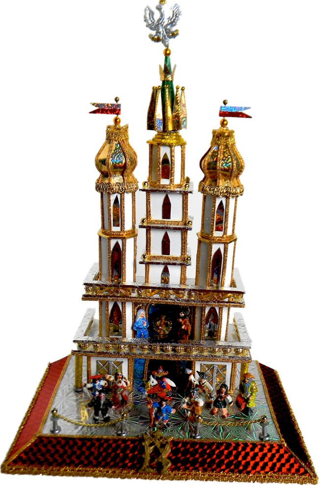 White Towers one of a kind Krakow Nativity -szopka by competition winner Dziwic