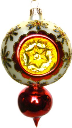 Cornflower tarditional Polish glass Christmas ornament design