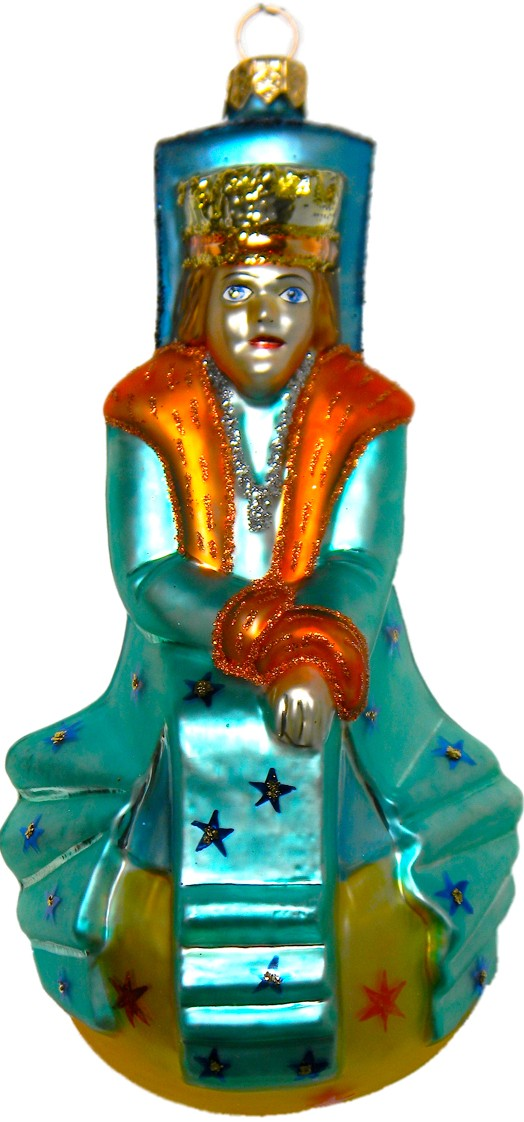 The Little Prince King of World glass Christmas ornament