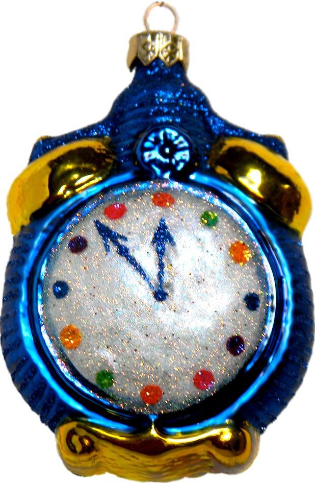 Millenium Time glass Christmas ornament