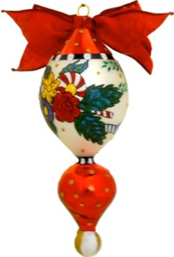 Holiday Bouquest traditional Polish glass Christmas ornament
