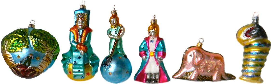 The Little Prince glass ornaments set