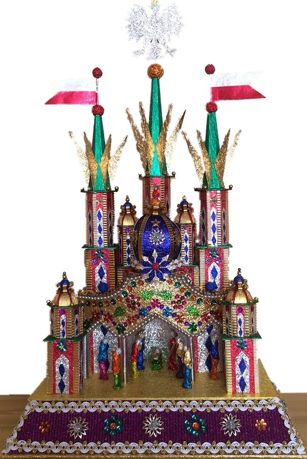 Krakow Nativity szopka with The Wavel Chapel copula