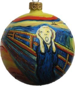 E. Munch's the Scream glass Christmas ornament